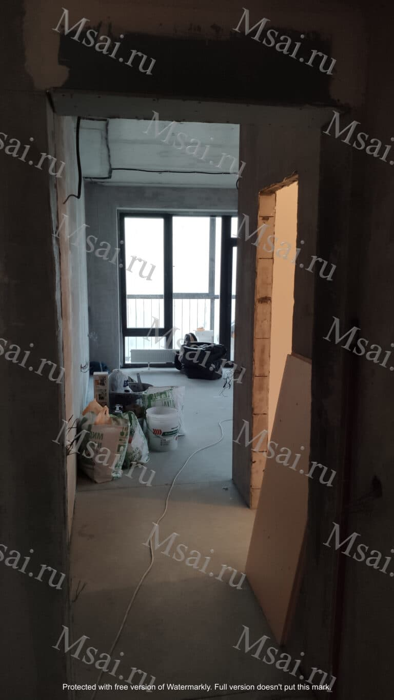 Фотофиксация помещения в процессе ремонта 2