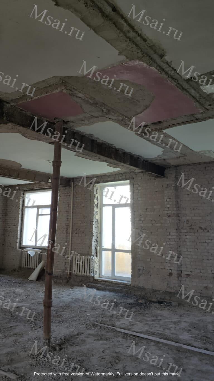 Фотофиксация помещения усиление перекрытия